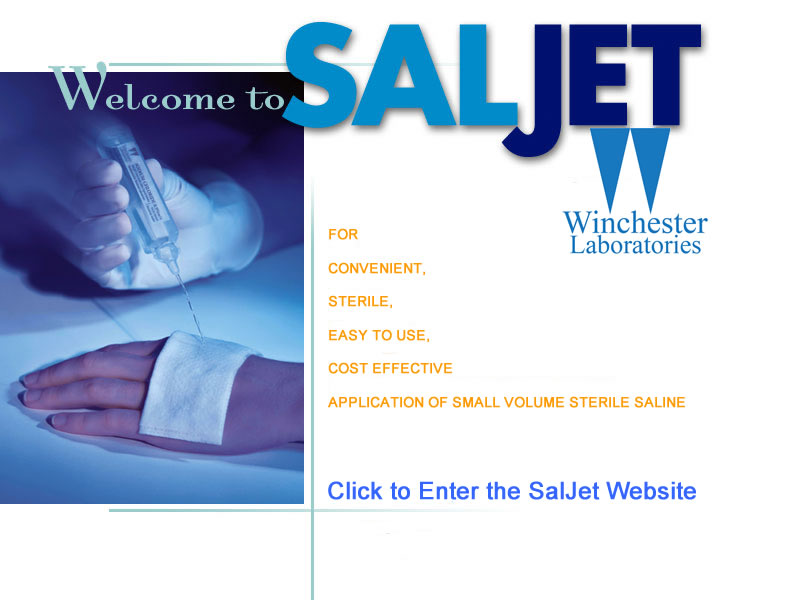 SalJet - Single Application Wound Care Saline Bullets